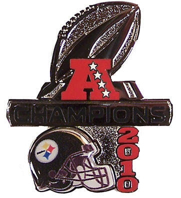 Pittsburgh Steelers 2010 AFC Champions Pin