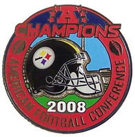Pittsburgh Steelers 2008 AFC Champions Pin #2