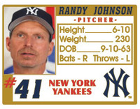 Randy Johnson Yankees Photo ID Pin