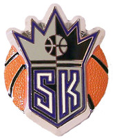 Sacramento Kings 3-D Ball Pin