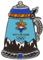 Salt Lake City 2002 Olympics 3.2 Beer Stein Pin - Limited