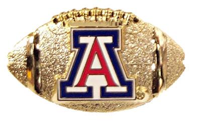 Arizona Sculpted Football Pin