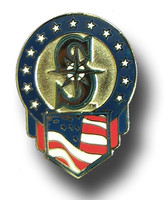 Seattle Mariners Patriotic Pin