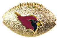 Arizona Cardinals 3-D Football Pin