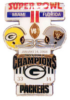 Super Bowl II (2) Oversized Commemorative Pin