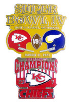 Super Bowl IV (4) Oversized Commemorative Pin