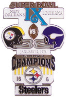 Super Bowl IX (9) Oversized Commemorative Pin