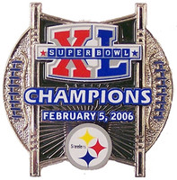 Super Bowl XL (40) Pittsburgh Steelers Champions Double Ball Design