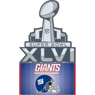 Super Bowl XLVI (46) New York Giants Pin