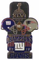 Super Bowl XLVI (46) Oversized Commemorative Pin