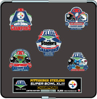 Super Bowl XLIII (43) Pittsburgh Steelers Champs Five Pin Set - Limited 5,000