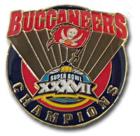 Super Bowl XXXVII (37) Tampa Bay Buccaneers Champs Pin