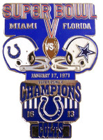 Super Bowl V (5) Oversized Commemorative Pin