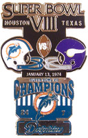 Super Bowl VIII (8) Oversized Commemorative Pin