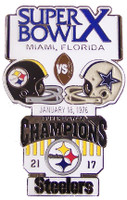 Super Bowl X (10) Oversized Commemorative Pin