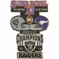 Super Bowl XI (11) Oversized Commemorative Pin