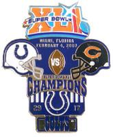 Super Bowl XLI (41) Oversized Commemorative Pin