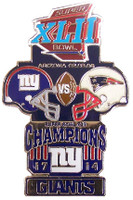 Super Bowl XLII (42) Oversized Commemorative Pin