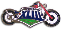 Super Bowl XLIII (43) Motorcycle Pin