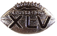 Super Bowl XLV (45) Game Ball Pin