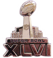 Super Bowl XLVI (46) 3-D Sculptured Logo Pin