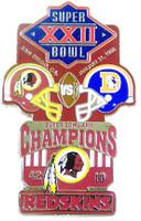 Super Bowl XXII (22) Oversized Commemorative Pin