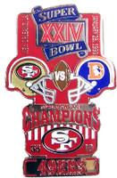 Super Bowl XXIV (24) Oversized Commemorative Pin