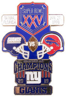 Super Bowl XXV (25) Oversized Commemorative Pin