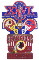 Super Bowl XXVI (26) Oversized Commemorative Pin