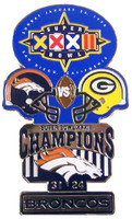 Super Bowl XXXII (32) Oversized Commemorative Pin