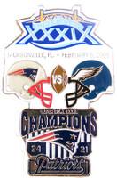 Super Bowl XXXIX (39) Oversized Commemorative Pin