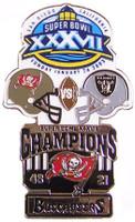 Super Bowl XXXVII (37) Oversized Commemorative Pin