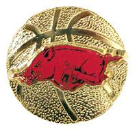 Arkansas Basketball Pin