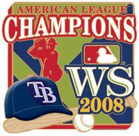 Tampa Bay Rays 2008 AL Champs Pin #2