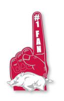 Arkansas #1 Fan Pin
