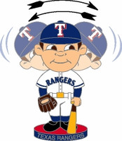Texas Rangers Bobbing Head Pin