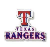 Texas Rangers Primary Plus Logo Pin