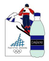 Torino 2006 Olympics Dasani Water Pin
