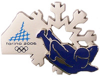 Torino 2006 Olympics Skeleton Double Pin