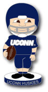 University of Connecticut Football Bobble Head Pin