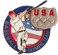 USA Olympic Team Athletes Baseball Pin