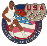 USA Olympic Team Athletes Basketball Pin