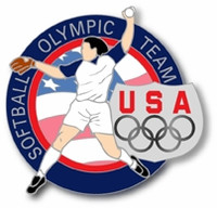 USA Olympic Team Athletes Softball Pin