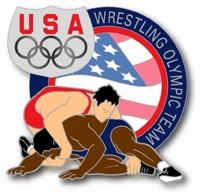 USA Olympic Team Athletes Wrestling Pin