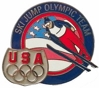 USA Olympic Team Ski Jump Pin