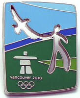 Vancouver 2010 Olympics Cut Out Eagle Pin