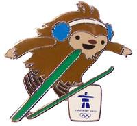 Vancouver 2010 Olympics Quatchi Ski Jump Pin
