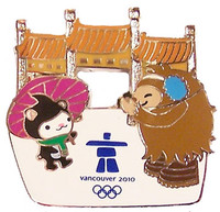 Vancouver 2010 Olympics Quatchi & Miga at China Gate Pin