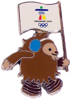Vancouver 2010 Olympics Quatichi with Vancouver Flag Pin