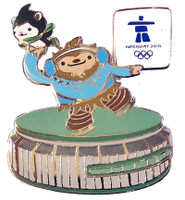 Vancouver 2010 Olympics Mascots at Pacific Coliseum Pin